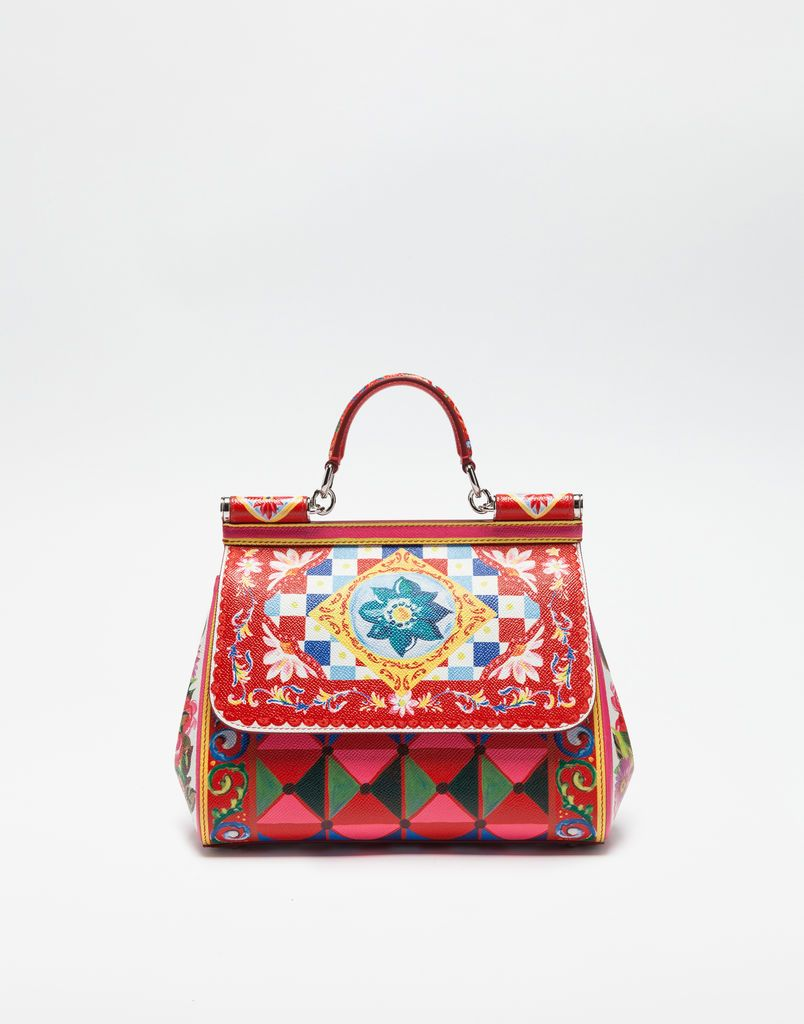 7dc49bd419 MEDIUM SICILY BAG IN PRINTED DAUPHINE LEATHER