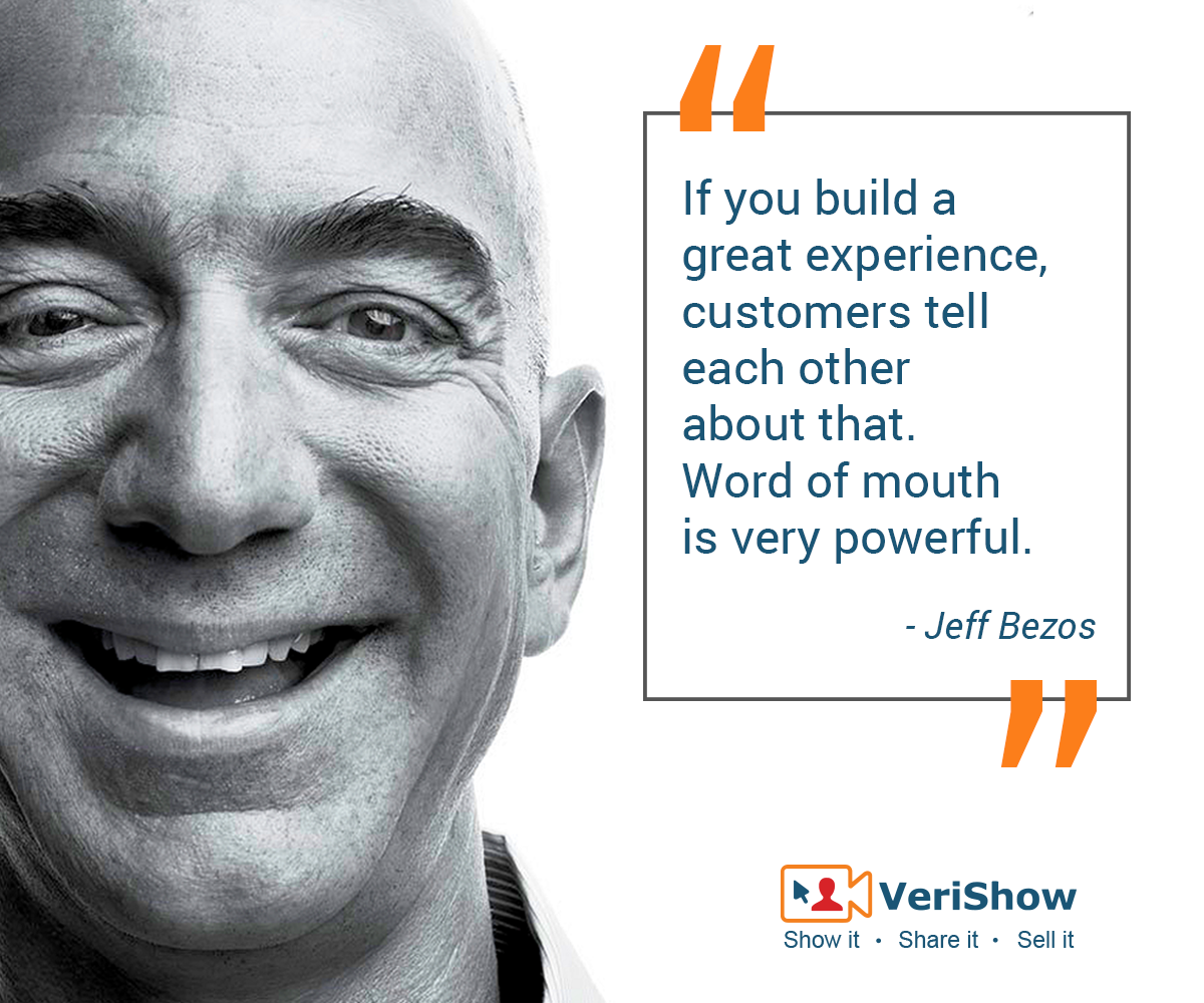 If you build a great experience, customers tell each other