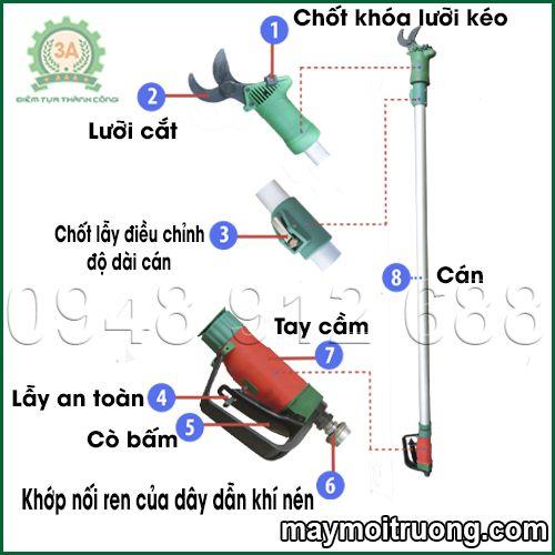Cau Tao Keo Cat Canh Tren Cao Loai Su Dung Khi Nen Bao Gom 3 San Pham Cu 3A Cam Tay Va