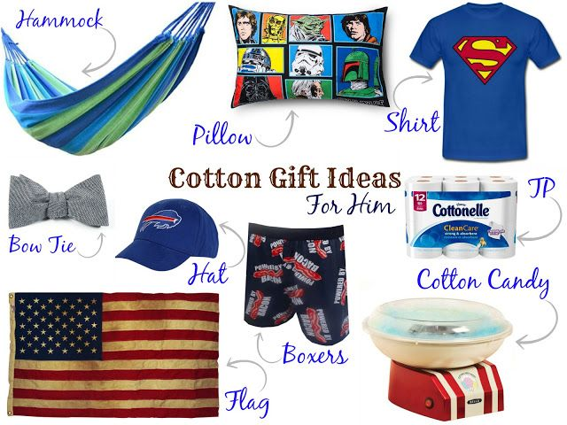 Gifts For Second Wedding Anniversary: Second Anniversary Cotton Gifts For Him