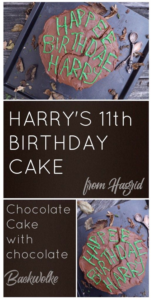 Harry Potter Harry S 11th Birthday Cake Backwolke Einfacher