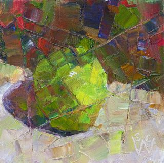 Susan Woodward's Art: Fractured Granny Smith