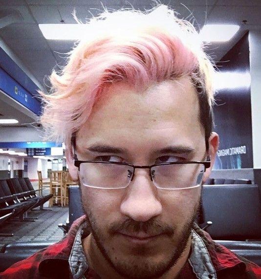 Markiplier Pink Hairstyle Markiplier Jacksepticeye Pewdiepie