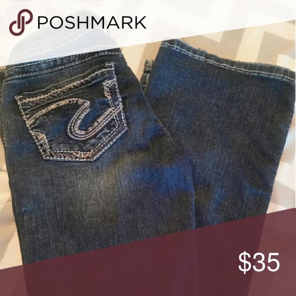 Silver Jeans, Suki fit Silver Jeans, Suki fit, bootcut, dark wash, minimal wear, size W26/L33 Silver Jeans Jeans Boot Cut