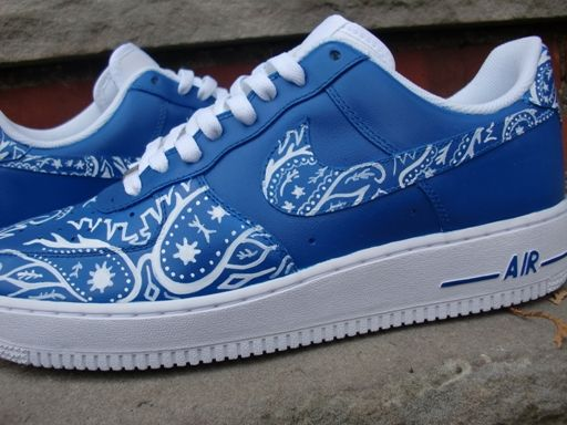 Nike Air Force 1 Bandana Bleu