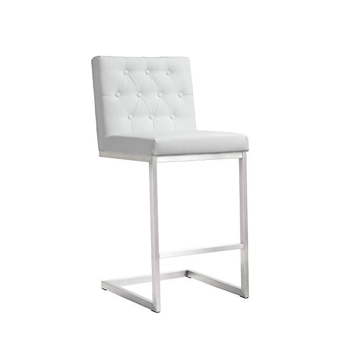 Amazon Com Tov Furniture Helsinki Stainless Steel Counter Stool