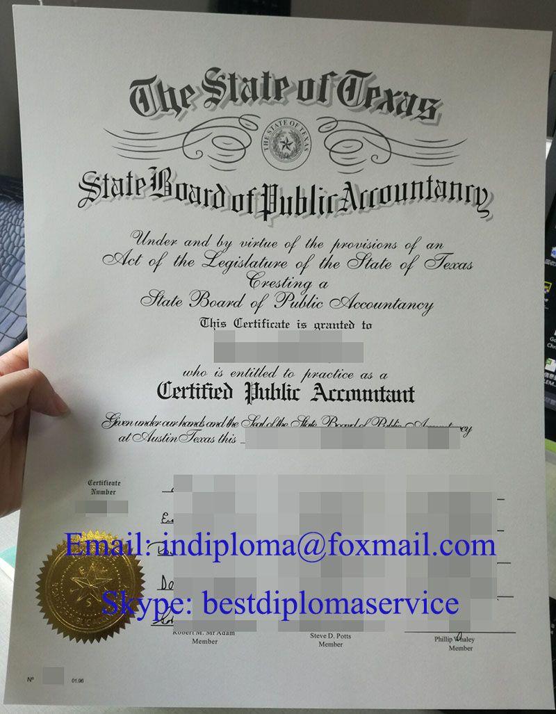 Texas Cpa Certificate Buy Cpa Certificate Buy Aicpa Certificate