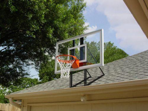 Roof King Platinum Garage Roof-Mount Basketball Hoop System with 60