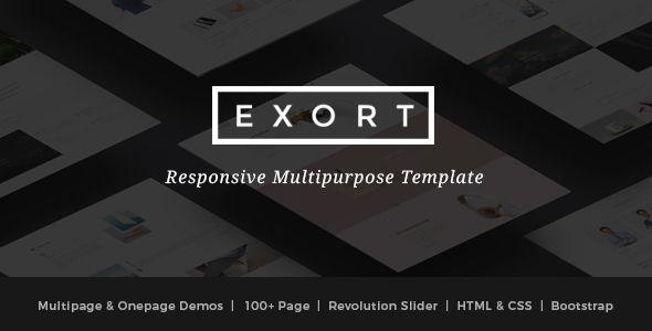 exort v1.0 - responsive multipurpose html template | up4vn, Presentation templates