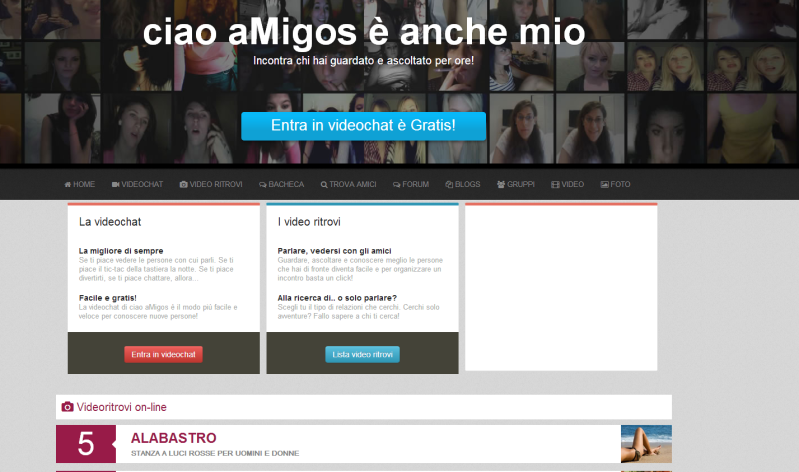 video vibratori chat video gratis ciao amigos