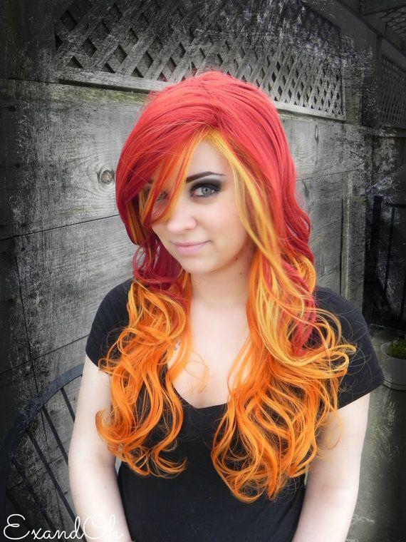 Hayley Williams Inspired Brick Red Orange And Yellow
