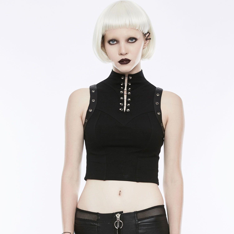 Daily Goth Top Mit Stehkragen Im Punk Style Gothic Kleidung Modestil Punk