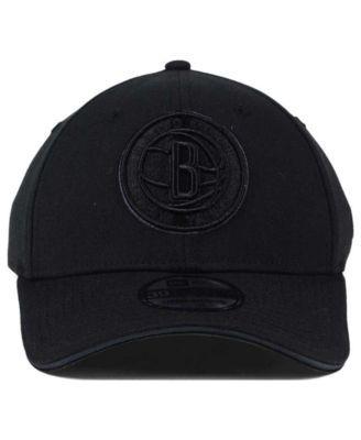 the best attitude 116cf b30ba New Era Brooklyn Nets Black Pop 39THIRTY Cap - Black L XL