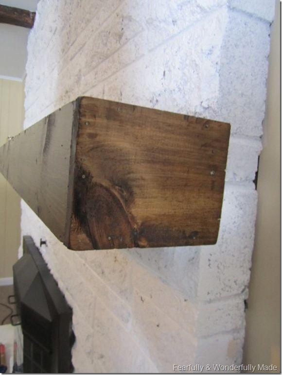 Wood Mantle Over Existing Brick Mantle Diy Pinterest