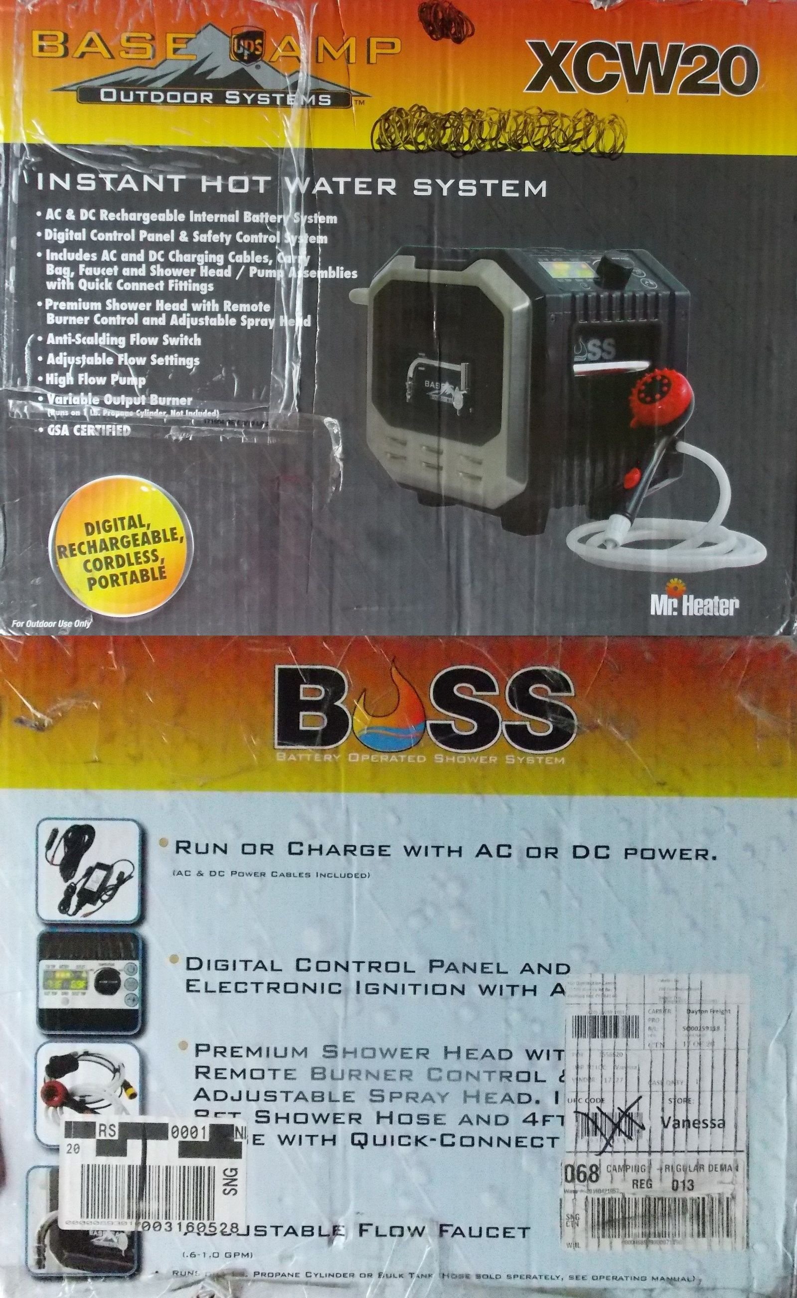 Battery Operated Water Heater Portable Showers And Accessories 181396 Mr Heater Boss Instant