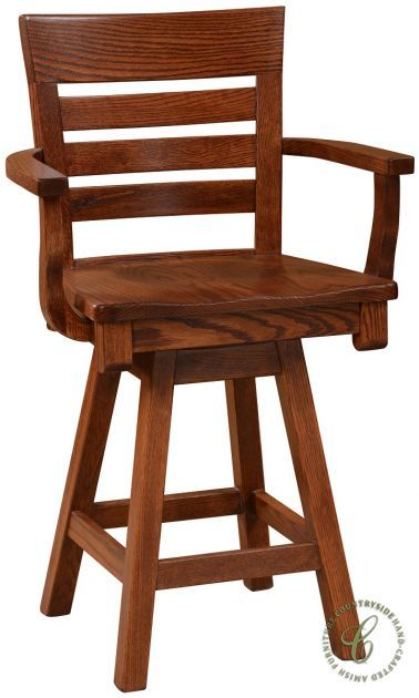 Streeter Amish Swivel Bar Chair Countryside Amish Furniture