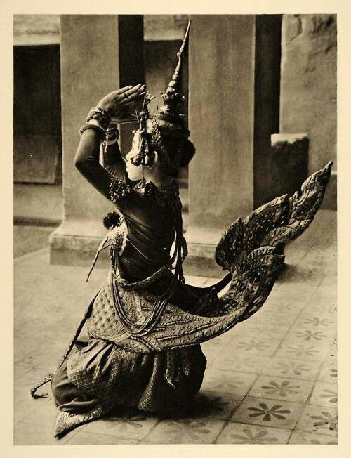 Female Garuda. A Traditional Thai dancing