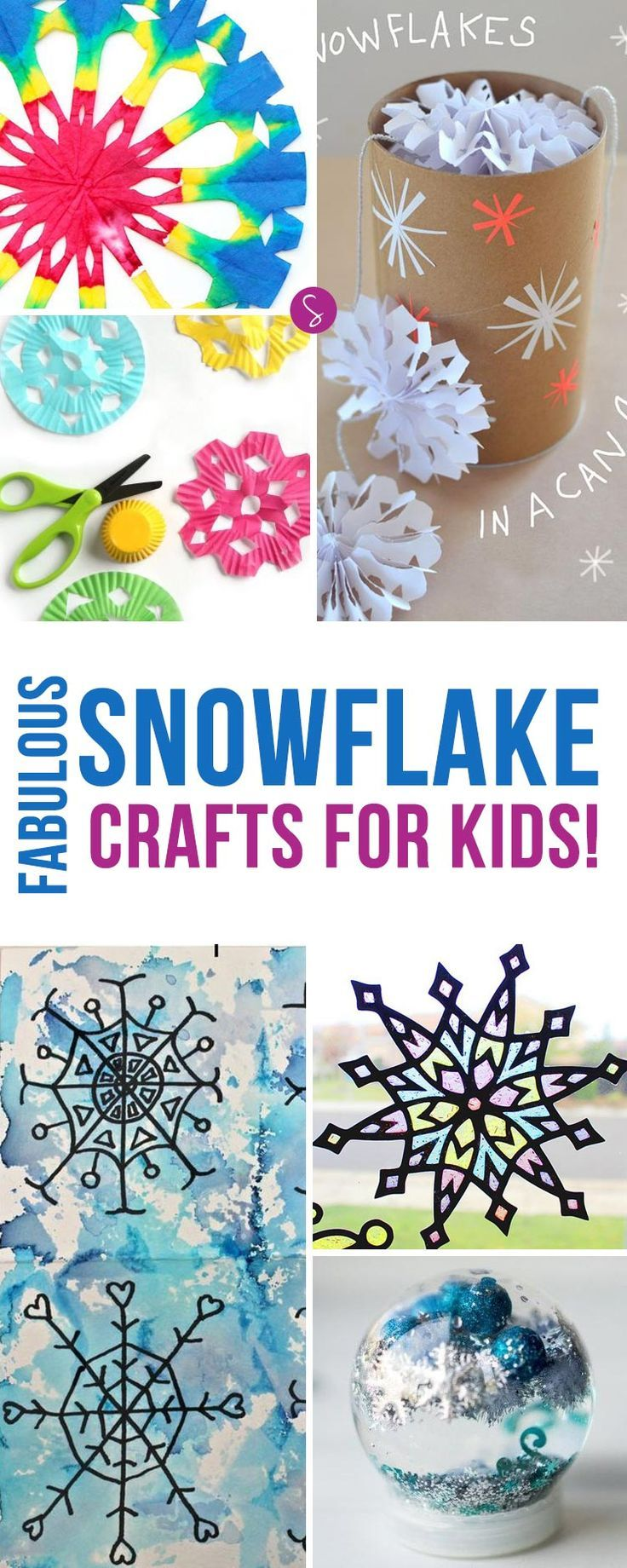 These Snowflake Crafts Look Like So Much Fun Cant Wait To Fill Our Home With Snowflakes This Christmas Thanks For Pinning
