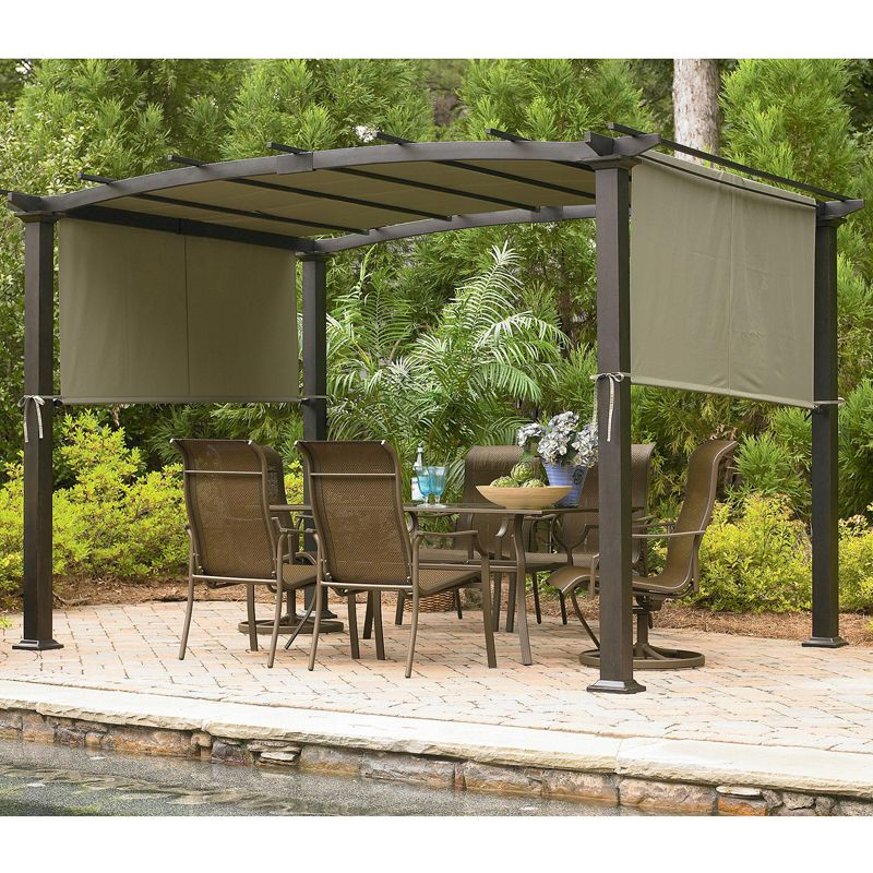 Pergola Canopy And Cover For Sears Pergolas Garden Winds Curved Pergola Pergola Garden Pergola