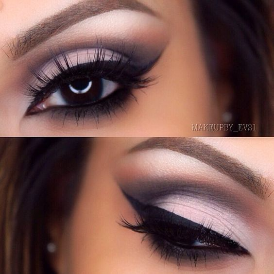 cut crease eye makeup look will go great with the Sherri ...