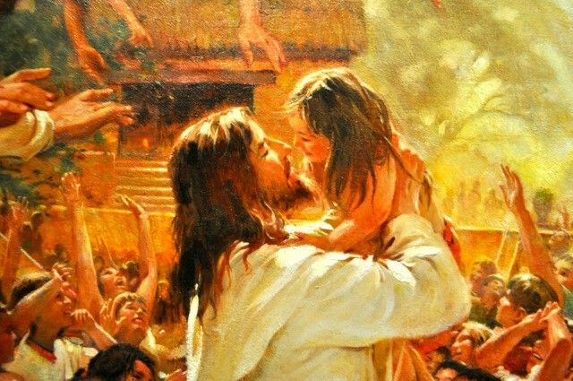 Christ and Nephite Child | Pictures of christ, Jesus pictures, Christ