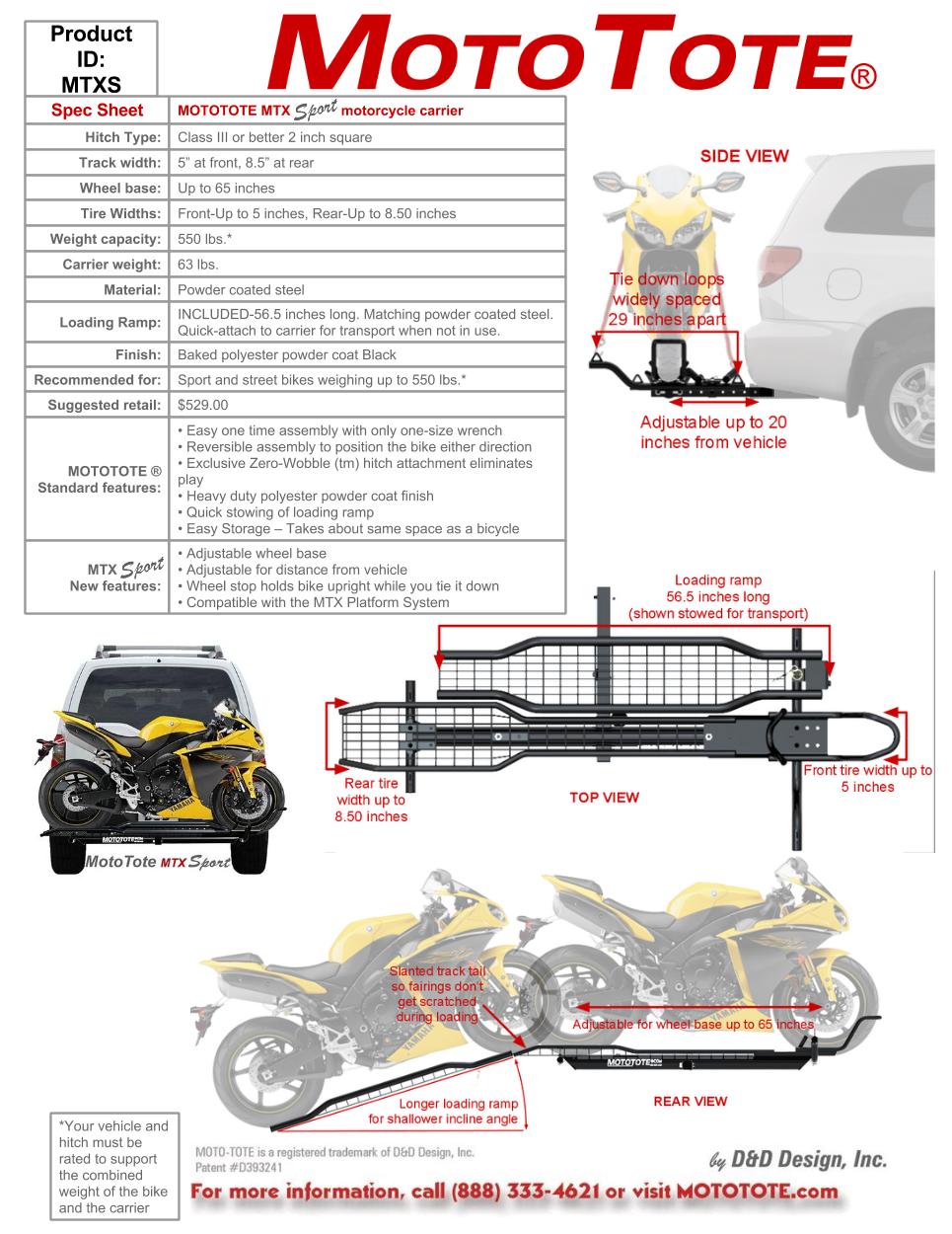Mtx Sport Motorcycle Carrier Motocross Motorcycle