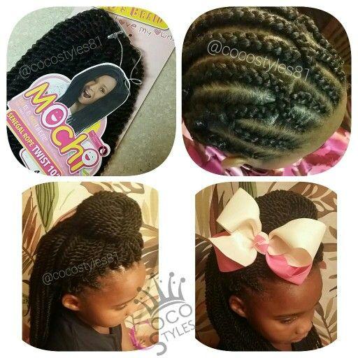 Kid S Crochet Senagalese Twists Mochi Hair Kids Crochet Hairstyles Little Girl Hairstyles Hair Braid Patterns