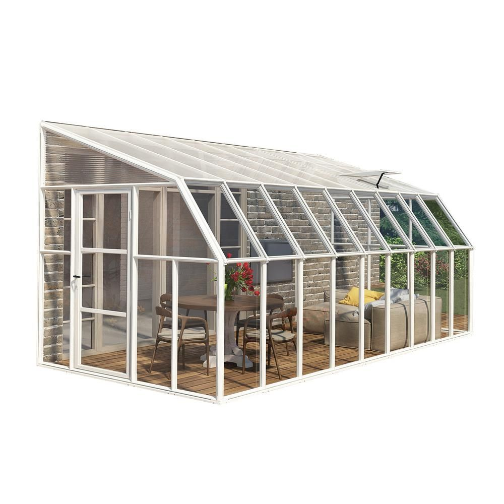 Palram Victory Orangery 10 Ft X 12 Ft Garden Chalet Greenhouse 702422 The Home Depot Polycarbonate Greenhouse Greenhouse Hobby Greenhouse Backyard greenhouse home depot