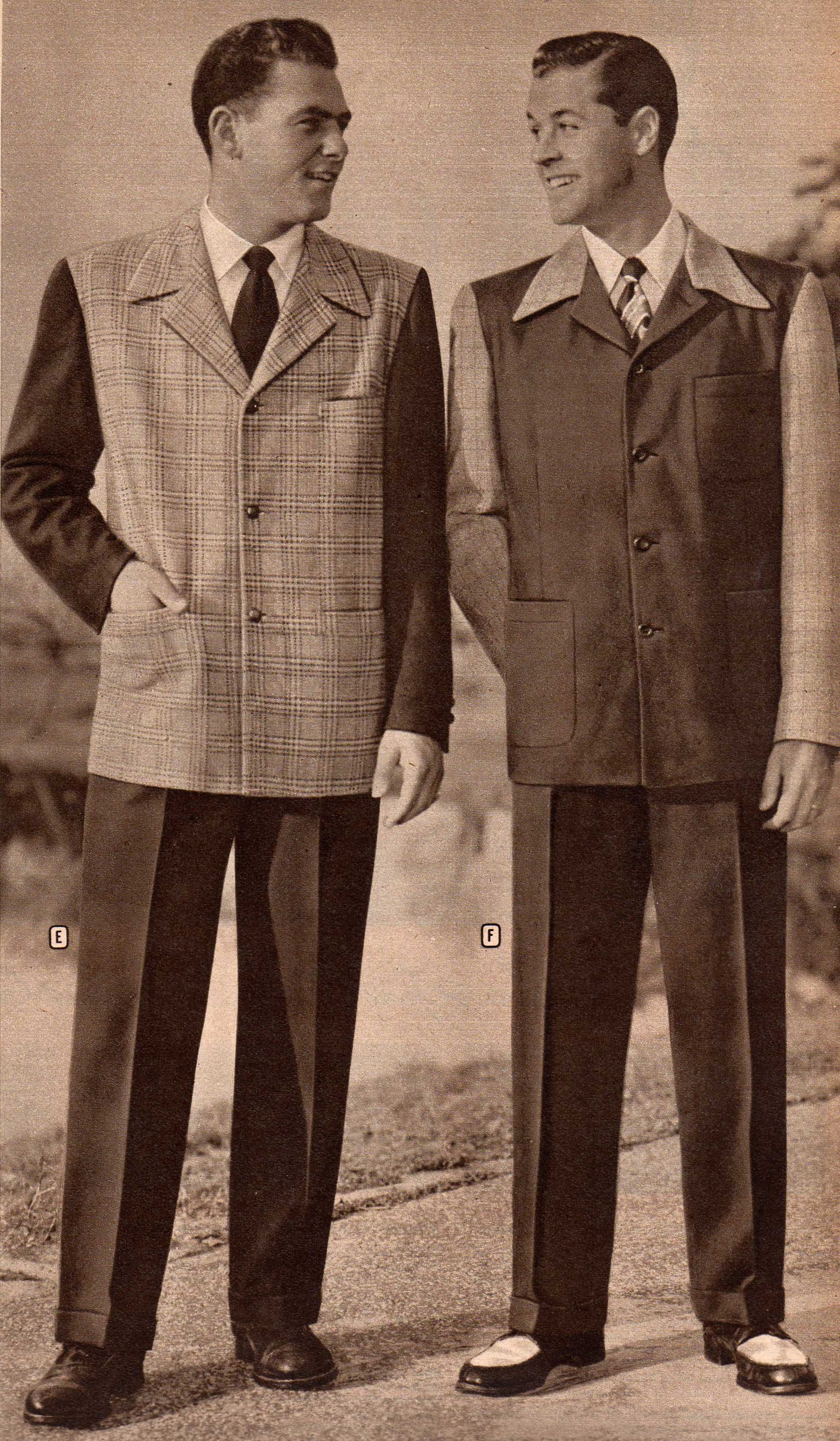 11b3aff74ef Mens 1940 Fashion Fashion   Mens 1940s Sport Coats and Pants History - 1940s  Fashion   1940s .