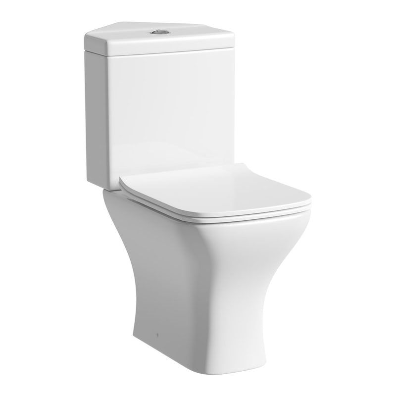 Orchard Derwent Square Compact Corner Close Coupled Toilet With