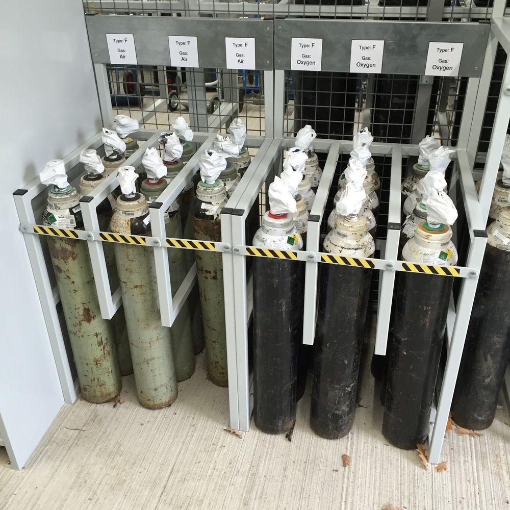 Medical Gas Storage Racks
