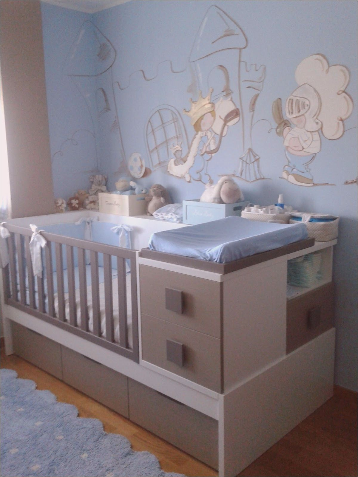 16 Deco Chambre Bebe Gris Bleu  Baby boy rooms, Boy room, Blue rooms