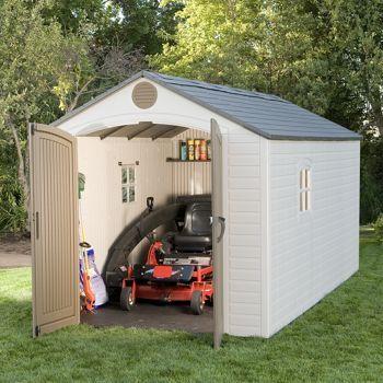 Costco Lifetime Brighton 8 X 15 Storage Shed Shed Sizes Outdoor Storage Sheds Shed Storage