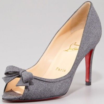 4b9fdf149c95 Christian Louboutin Milady 85mm Flannel Peep Toe Pumps Grey