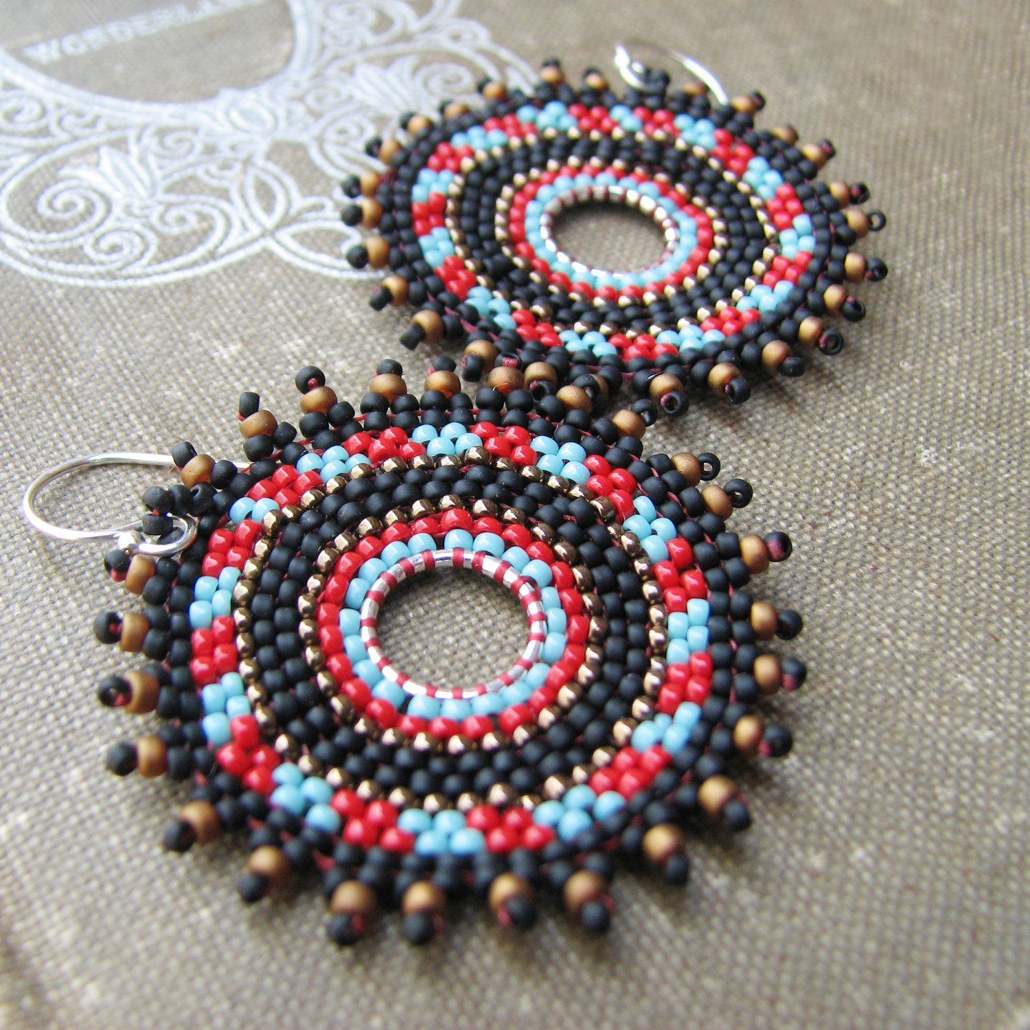 Sylvia Windhurst, geometric tribal earrings
