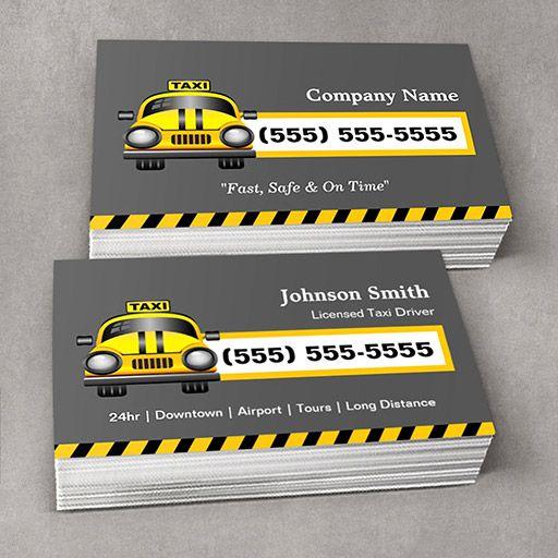 Urban Taxi Driver Yellow Cap Business Cards Printing Business Cards Business Cards Online Cool Business Cards