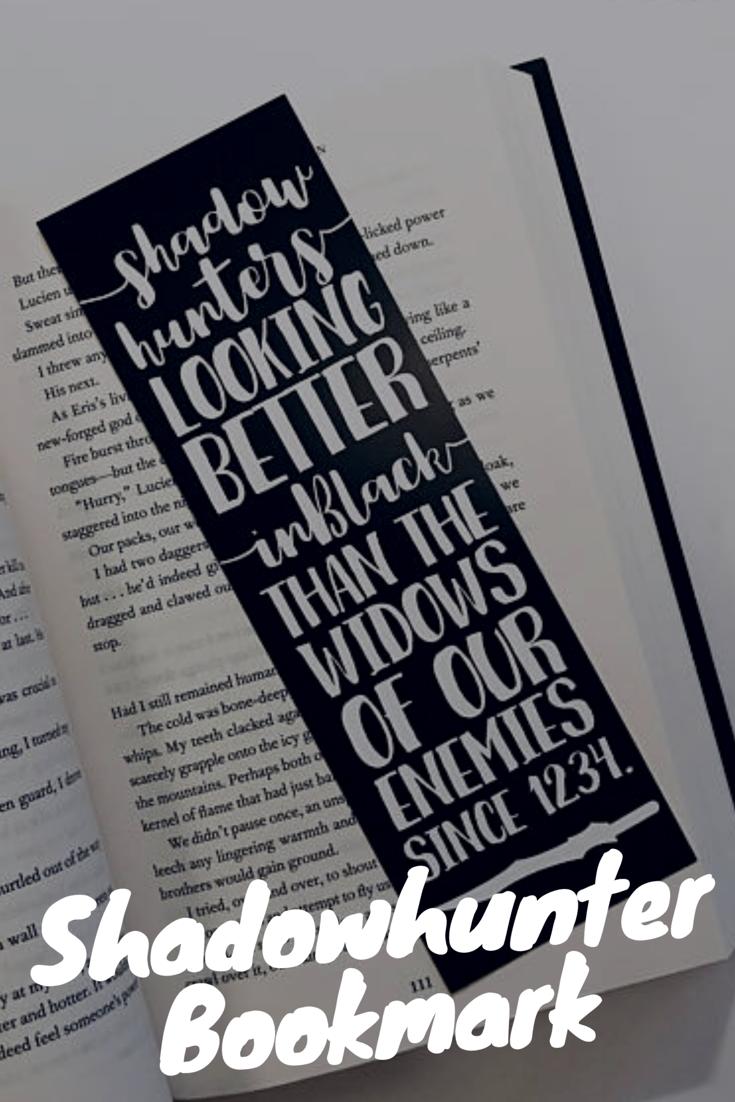 shadowhunter printable bookmark. #etsy #mortalinstruments