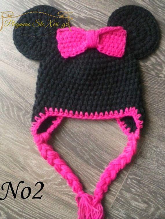 Minnie mouse hat, minnie mouse crochet hat, disney hat, animal hat ...