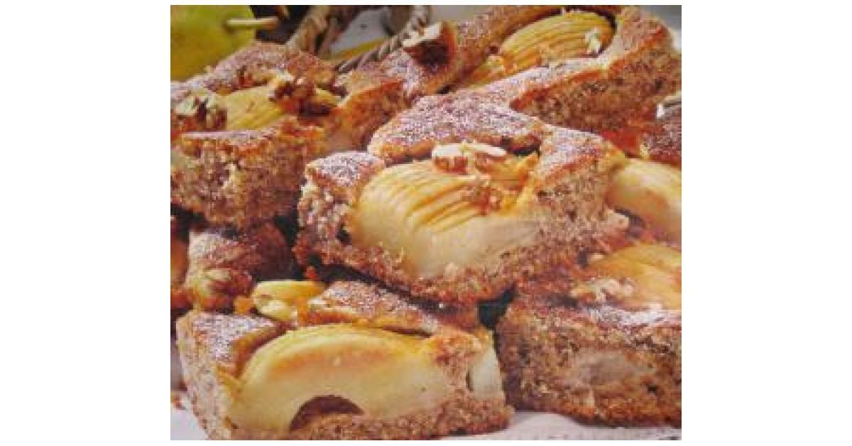 Blitz Birnen Walnuss Kuchen Rezept Kuchen