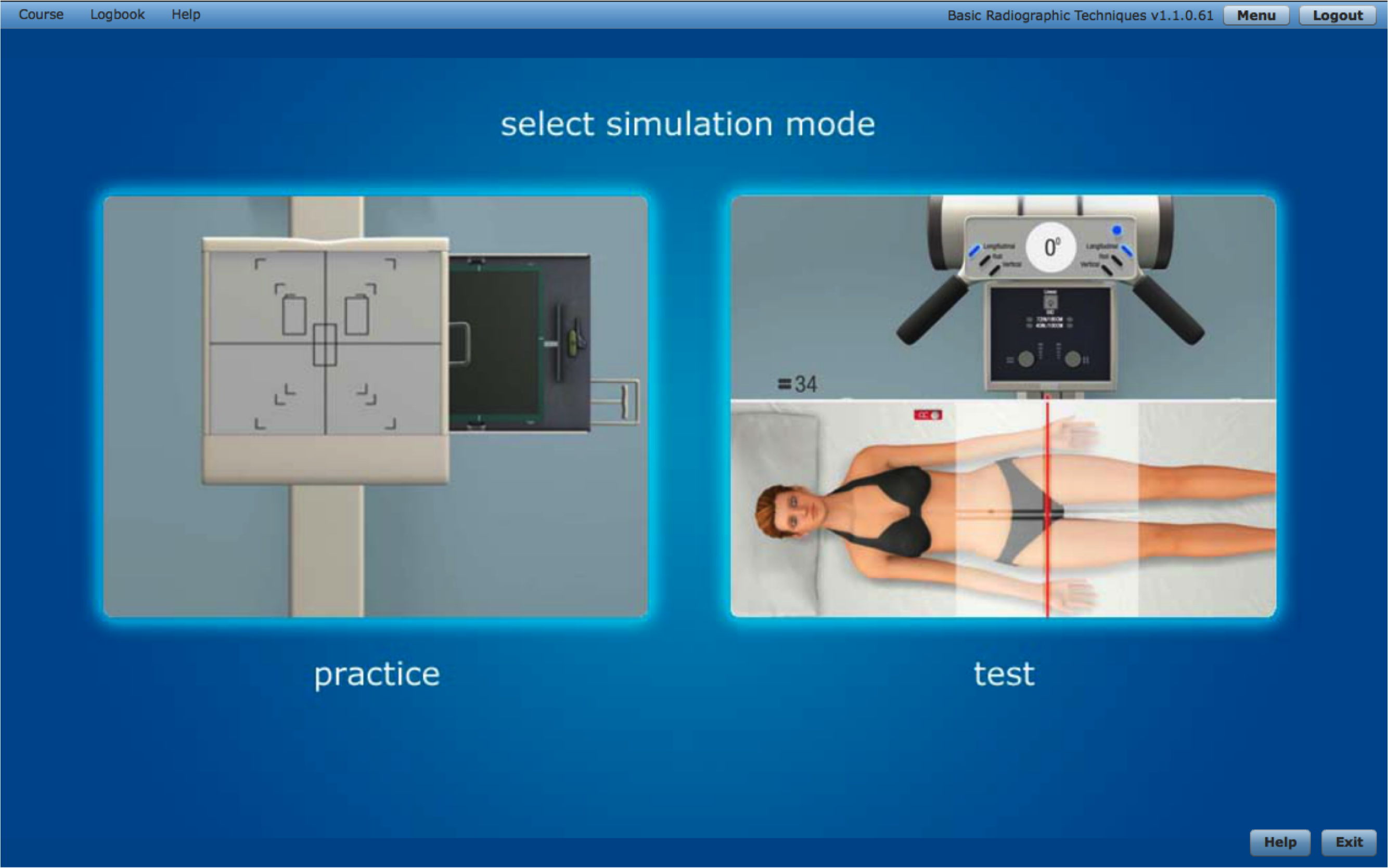 Rad tech · SIMTICS simulations available in two modes - learn and practice  with guidance, then test your
