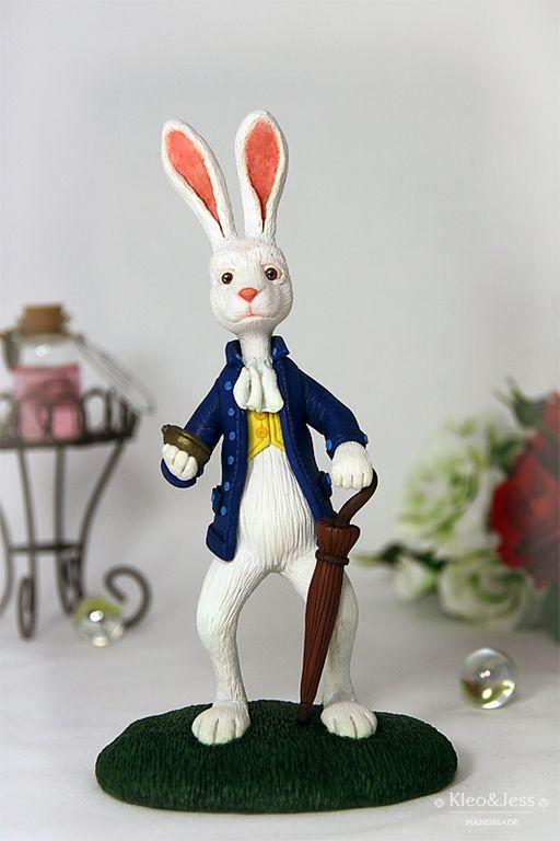 """Купить Интерьерная игрушка - статуэтка """"Белый Кролик"""" (Алиса в Стране чудес) - сказочный мир"""
