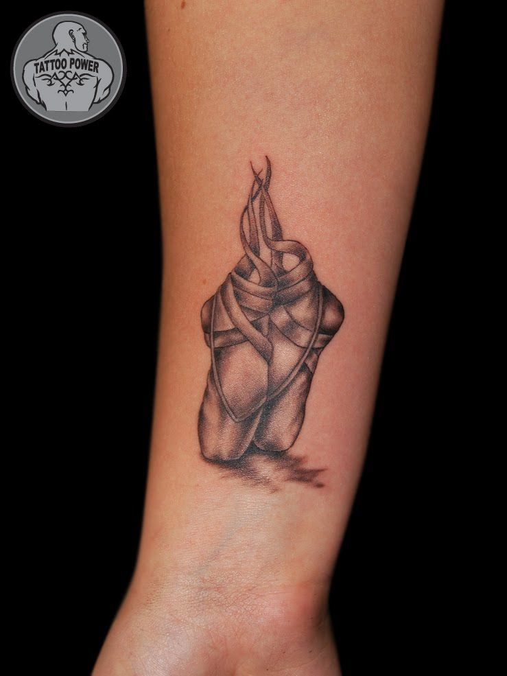 Sapatilha Ballet Bailarina {Mini Tattoo} | Tatuagem de