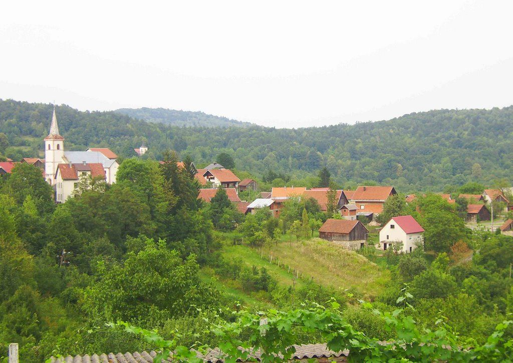 View On Lukovdol Birth Place Of Croatian Writer Ivan Goran