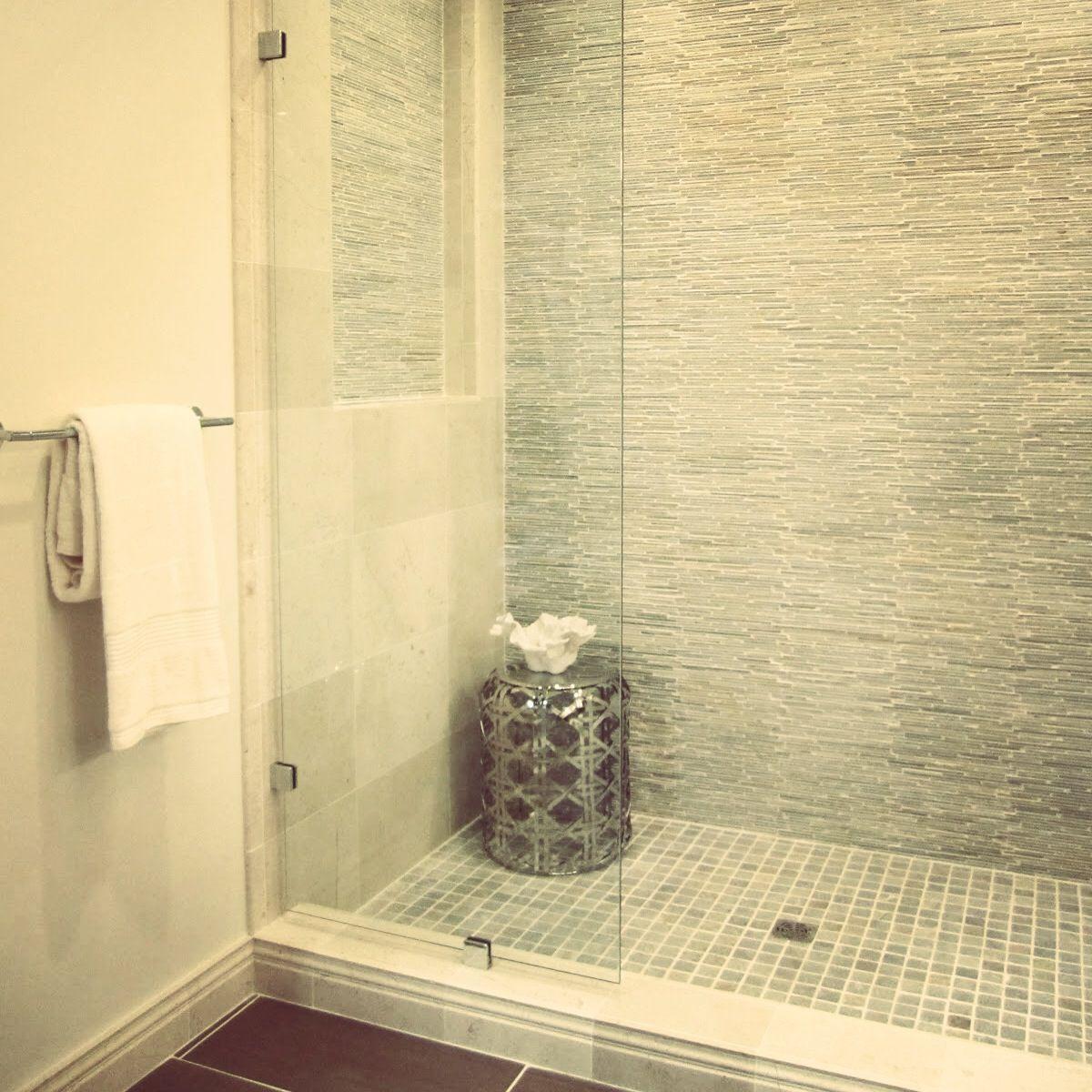 A mosaic textured shower wall | Bathroom - Master | Pinterest ...