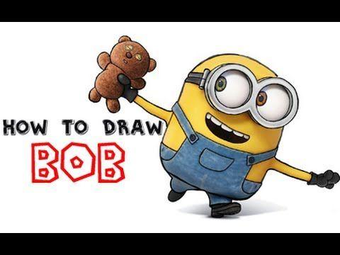How To Draw Bob The Minion From Minions And Despicable Me Minion Zeichnung Minion Minion Malen