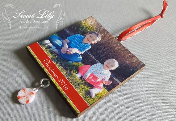 Custom Two-Sided Wooden Photo Ornament with Mini by ilovethoseboys