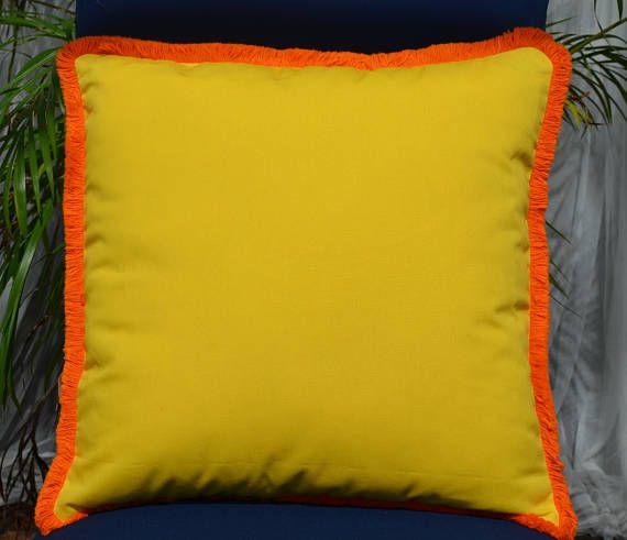 Bright Summer Collection 40 YellowOrange Decorative Pillow Custom Bright Orange Decorative Pillows