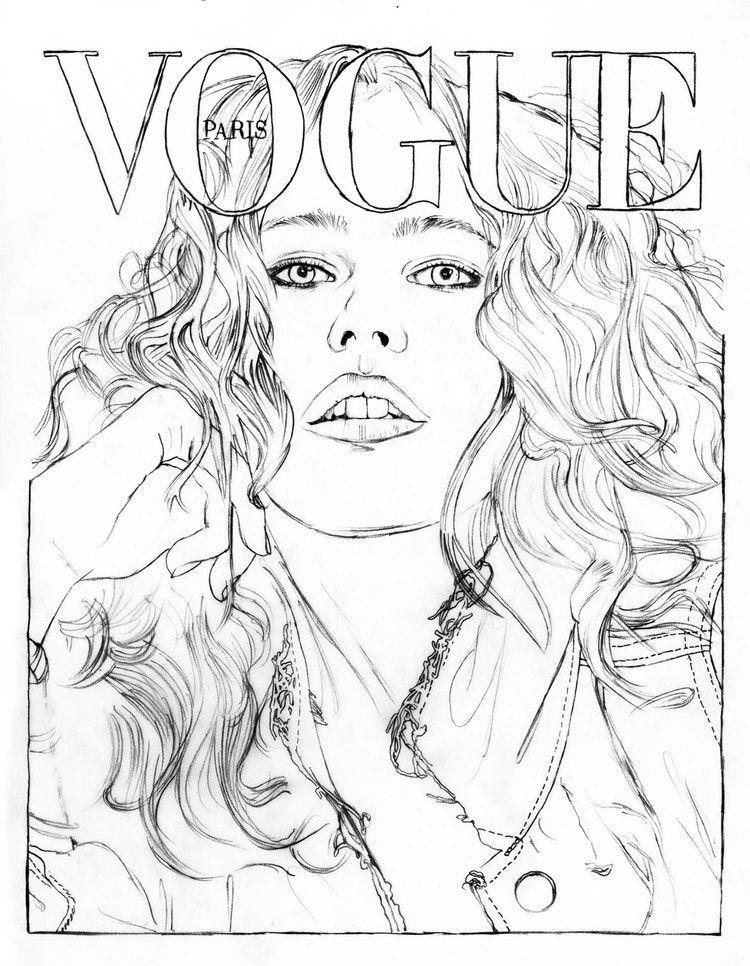 Color Your Favorite Vogue Paris Covers Fashion Coloring Book Coloring Books Paris Illustration