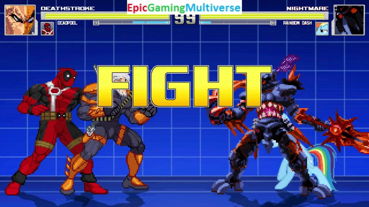 Deadpool And Deathstroke VS Nightmare And Rainbow Dash In A MUGEN Match / Battle / Fight: https://t.co/fywXMXvnvE via @YouTube