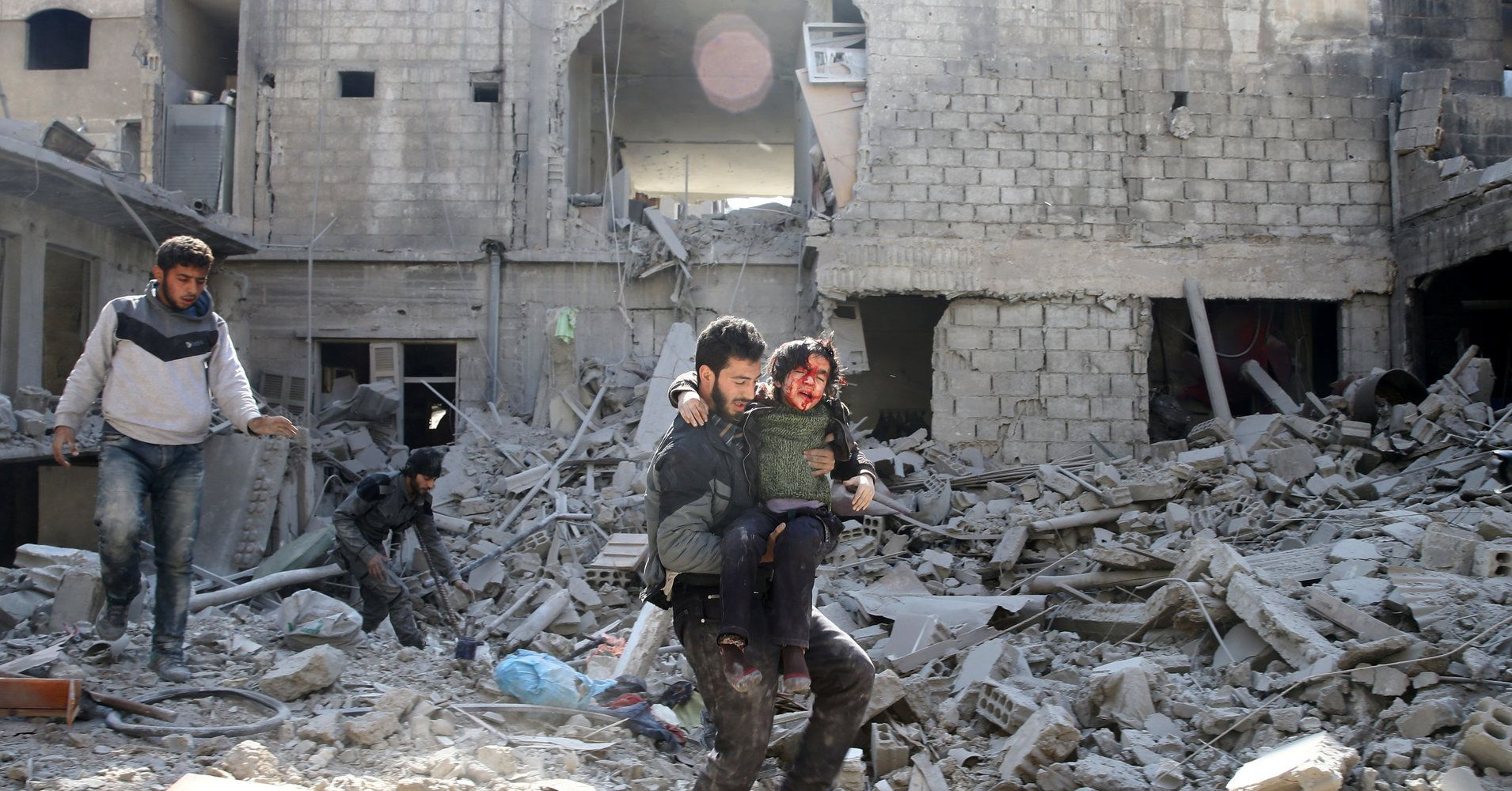 Syria S Ghouta Residents Wait To As Mores Fall